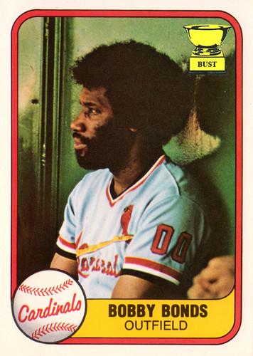 Baseball Card Bust Bobby Bonds 1981 Fleer
