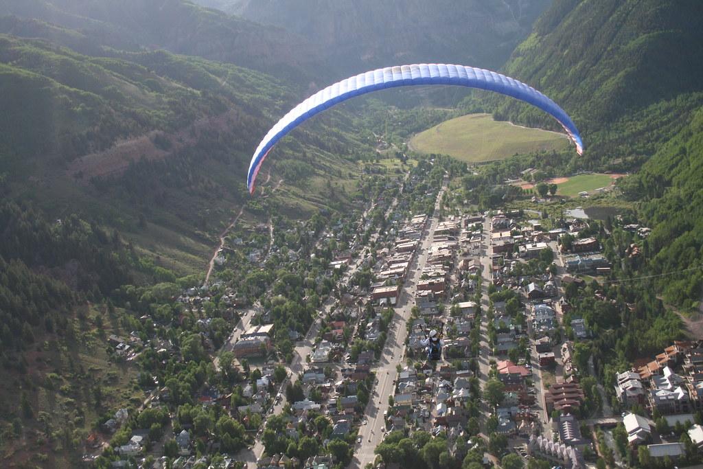 Telluride Paragliding tandem flight