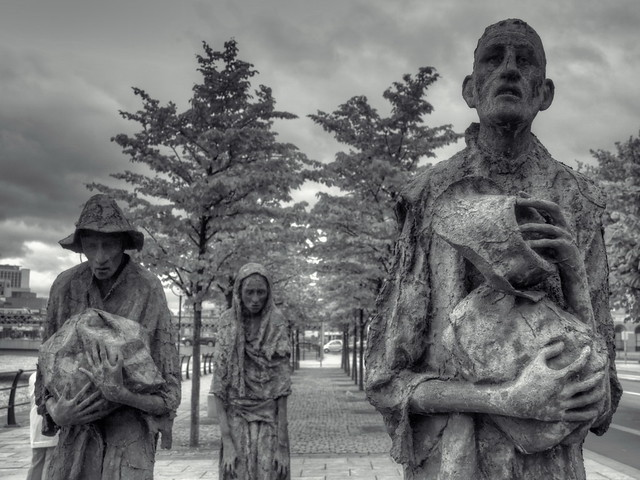 Famine Memorial, Dublin, Ireland