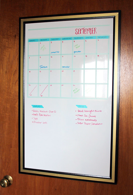 Diy Calendar On Whiteboard : Vitamini handmade my whiteboard calendar