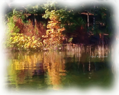 autumn reflections painting landscape colorful photoart thegalaxy theperfectphotographer thebestofday gailpiland flickrstruereflection1