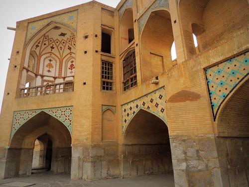Khaju brick bridge of Isfahan by Germán Vogel