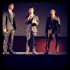 Daniel Radcliffe and Dane DeHaan at the Kill Your Darlings Q&A