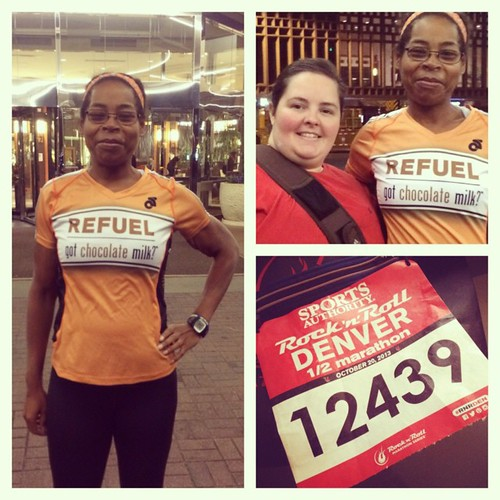 I'm ready to race #rnrden in my #teamrefuel gear! Thanks to my @gotchocomilk bestie for coming all this way to support me! I'll definitely be running for my chocolate milk at the finish line!good luck to everyone running!#imblessed #running #halfmarathon