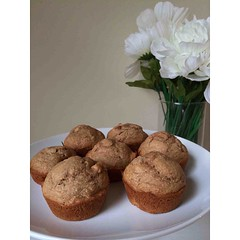 These are my fav! Revamped apple cinnamon muffins--updated recipe on the NEW blog tomorrow