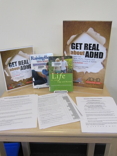 Clearbrook Library, Abbotsford ADHD Awareness Week book display photo 2013