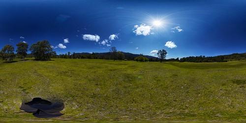 blue sky cloud clouds australia 360 derek cables glitch act tidbinbilla australiancapitalterritory equirectangular rantz afdxfisheyenikkor105mmf28ged cableicious cablelicious psad2013 psadmmxxiii