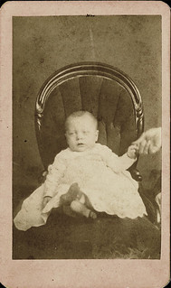 CDV of Baby with Hidden Mother's Hand