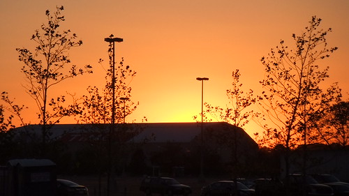 A Burning Sunset Over The #Meadowlands Parking Lot