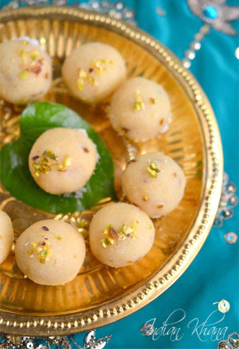 Coconut Khoya Gulkand Ladoo