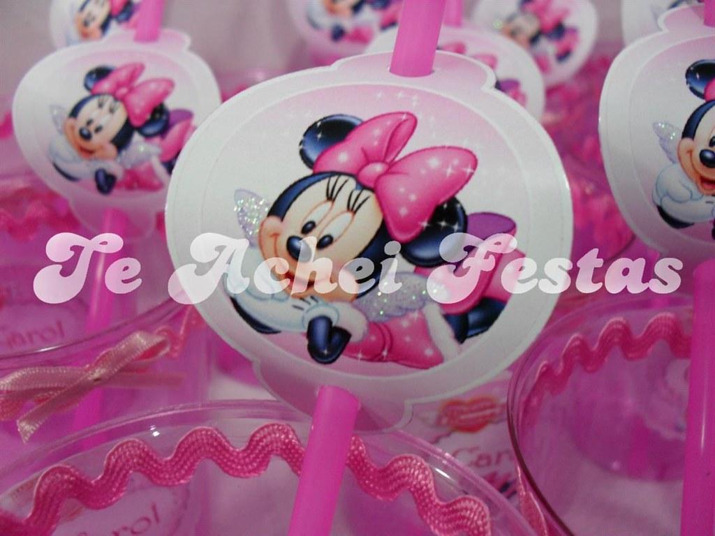 Centro De Mesa Kit Pipoca Minnie Rosa Este Kit é Composto Flickr
