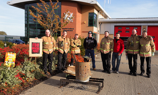FBU strike picket outside North Earlham Fire station, Norwich