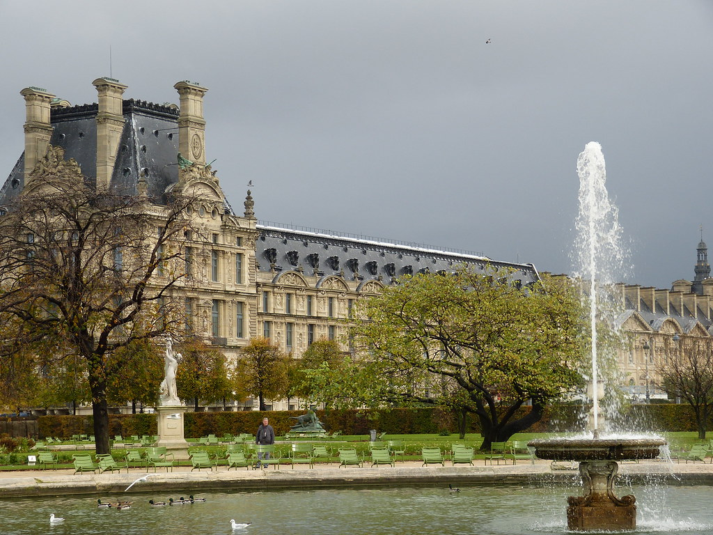 Louvre seen from Tuileries Gardens, Paris
