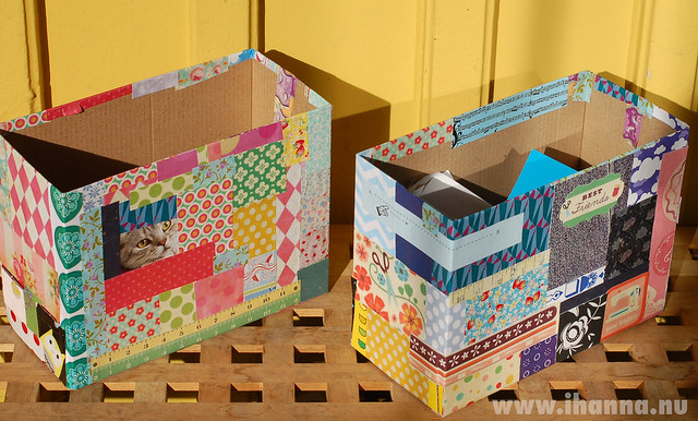 Fun boxes for papers