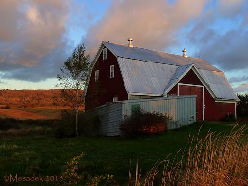barn sunrise novascotia farm