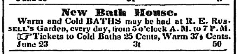Russell Bath House ad
