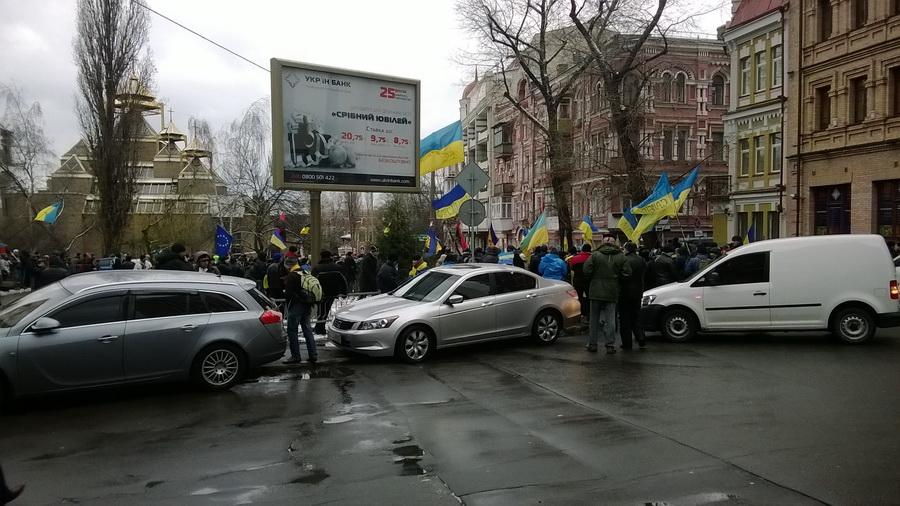 Митинг под Шевченковским Судом в Киеве