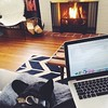 Our version of a snow day: Working from home, fire all day, warm puppy. Greetings from Ice Station Zebra. #fixercreative