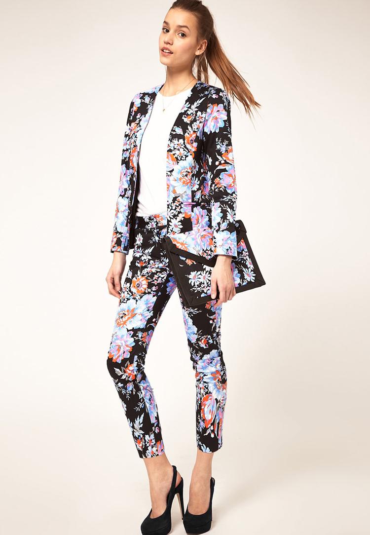 ASOS PETITE Trousers In Floral Print