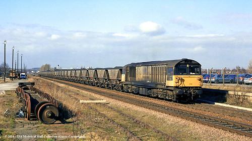 train diesel railway nottinghamshire worksop freighttrain ews class58 58019 shirebrookcolliery
