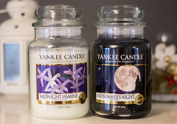 Yankee Candle Large Jars in Midnight Jasmine and Midsummers Night