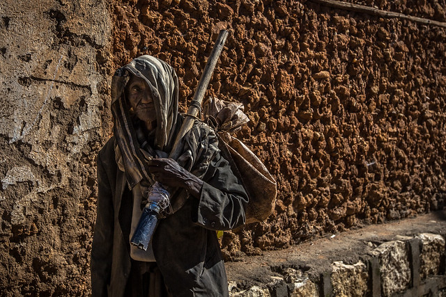 poor man in the old city of harar