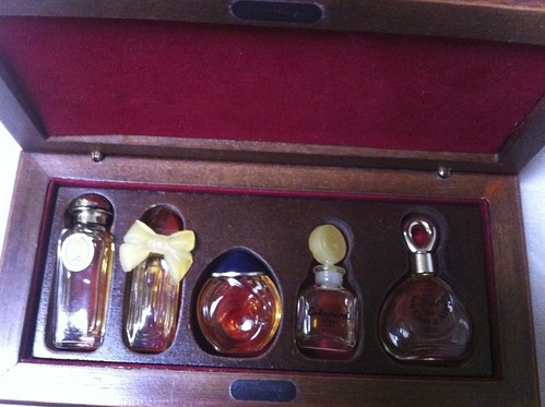 Coffet of vintage mini perfumes by Ayala Moriel