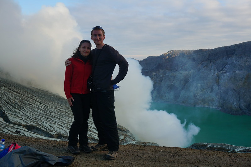 By the Ijen crater rim
