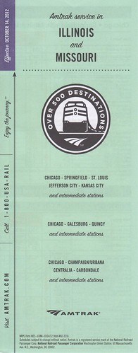 Amtrak 2012 Illinois Service Cover