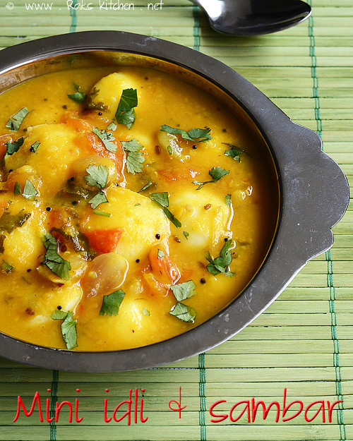 mini-idli-sambar