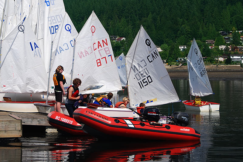 Sailing Lessons in Rocky Point Park, Port Moody, Greater Vancouver, British Columbia