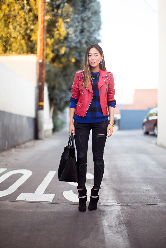 song-of-style-red-leather-jacket-distressed-skinny-jeans-2