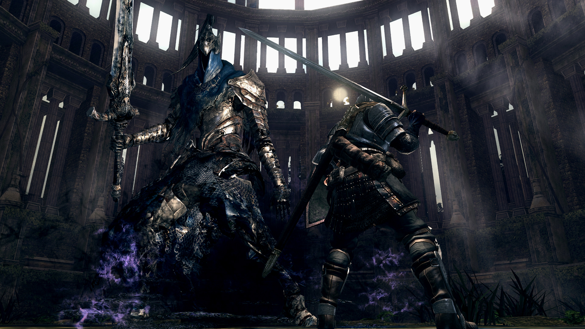 Dragon Slayer Knight Artorias And His Pet Wolf Sif Vs