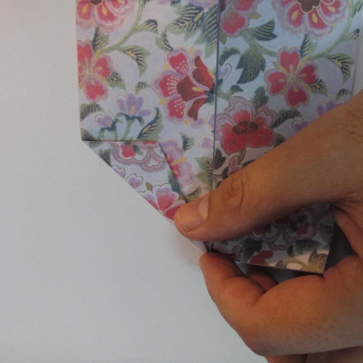 การพับกระดาษเป็นรูปหัวใจแบบ 3 มิติ 030