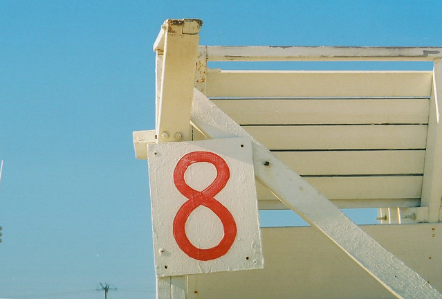 lifeguard station, number 8.