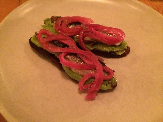 Wood oven roasted local sardine and avocado toast - Contigo