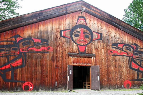 'Ksan Historical Village, Hazelton, Yellowhead Highway 16, Northern British Columbia, Canada