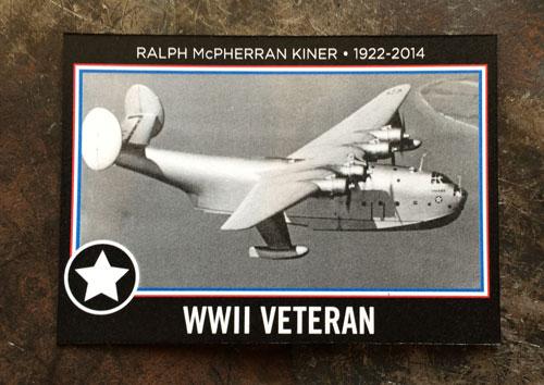 2014 SlangKo Ralph Kiner WWII Veteran front