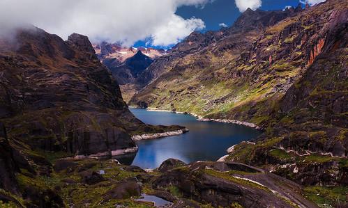 blue sky lake snow mountains canon landscape ds bolivia lagoon lapaz highandes azeruni