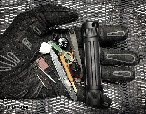 Mini Wilderness Survival Kit / Life Capsule Omega
