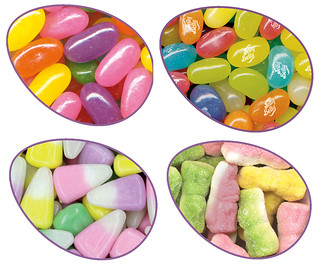 Jelly Belly Easter Candies: Pectin Jelly Beans, Jelly Belly Spring Mix, Bunny Corn and Sour Bunnies