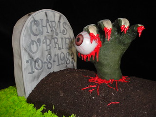 Zombie hand and grave