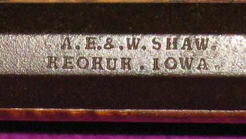 A. E. & W. SHAW   KEOKUK . IOWA