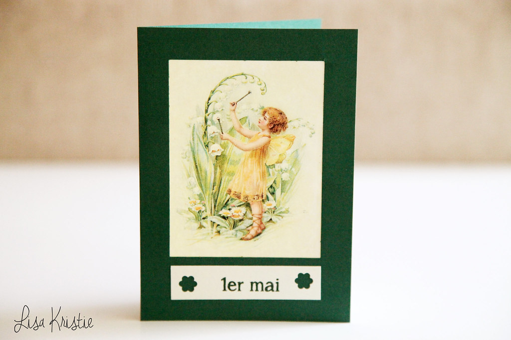 handmade hand crafted paper diy unique card may day premier mai 1er labor day europe france belgium lily of the valley flowers symbolic fairy illustration vintage copyright free