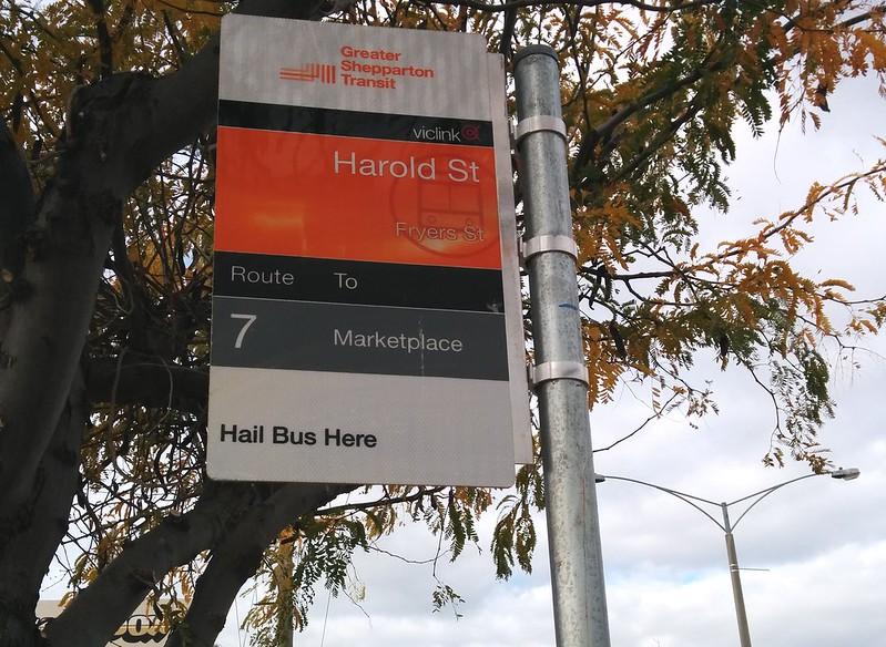 Shepparton bus stop