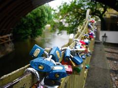 Locks lining the Canal, Malà Strana
