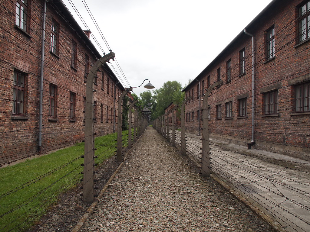 Imprisonment buildings at Auschwitz I (Oświęcim, Poland 2014)