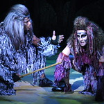 Arvada Center Tarzan pictured L-R Laurence A. Curry (Kerchak), Shannan Steele (Kala) Photo P. Switzer -