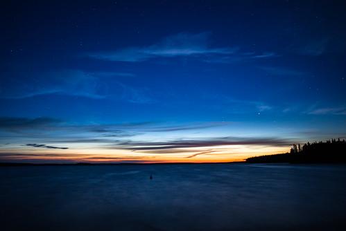 Dusk with Noctilucent Cloud over Waskesiu Lake, Saskatchewan