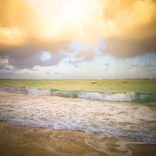 sunset rainbow barbados silversands caribbeansea westindies